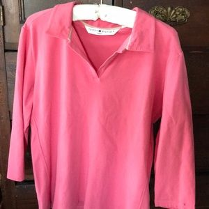 Tommy Hilfiger pink mid length sleeve